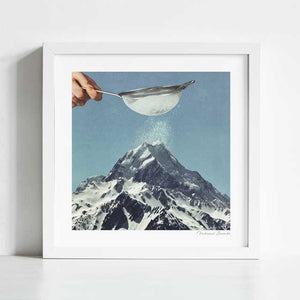 Sifted summit Art Print