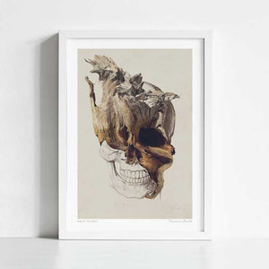 Skull - High By The Beach Art Print
