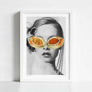 Hungry eyes Art Print