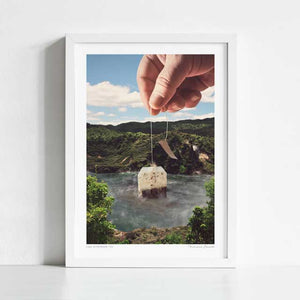 Lake afternoon tea Art Print