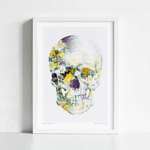 Skull bouquet B Art Print
