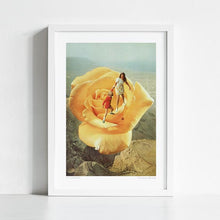 Load image into Gallery viewer, The yellow big rose Art Print