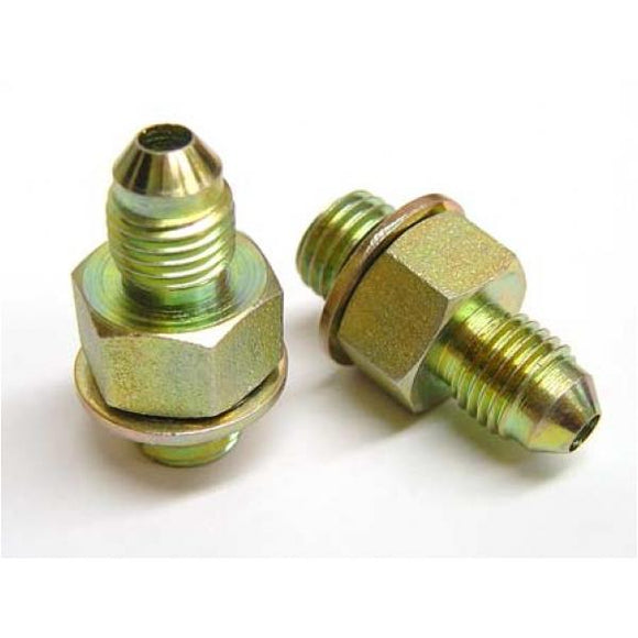 1.8T Oil Feed adapter, Stock port to -4 Male AN