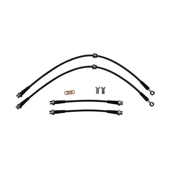 STAINLESS STEEL BRAIDED BRAKE LINE KIT, 8P AUDI A3 & MKV/MKVI VOLKSWAGEN GOLF/RABBIT/GTI/JETTA/GLI, DOT CERTIFIED