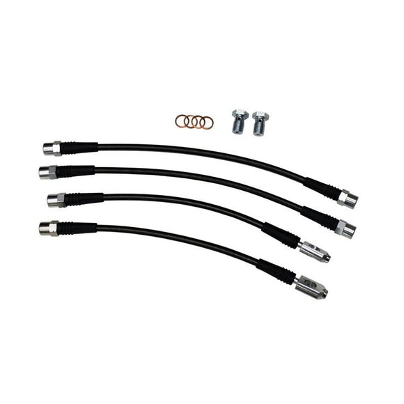 STAINLESS STEEL BRAIDED BRAKE LINE KIT, B6/B7 AUDI A4/S4 QUATTRO, DOT CERTIFIED