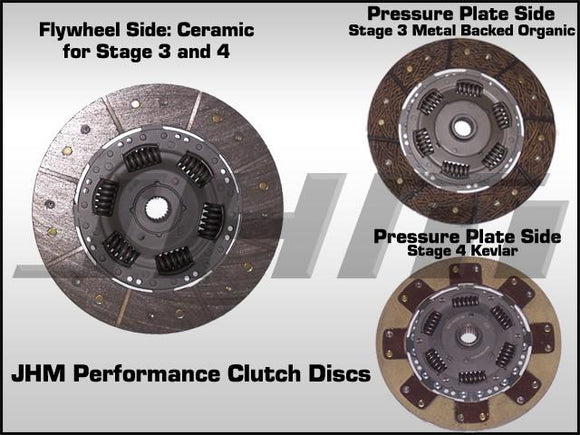 JHM Stage 3 Performance Clutch, DISC ONLY, for JHM C5, B5, B6, B7 240mm Clutch Kits