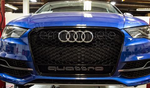 8V RS3 Style (2015-2016 Pre Facelift) Black Quattro Mesh Grille