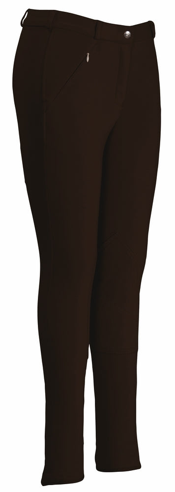 TuffRider Ladies Light Cotton Lowrise Knee Patch Breeches (Long)_4731