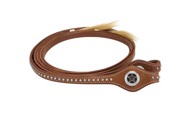TuffRider Western Split Reins With Horse Hair Tassel_5731