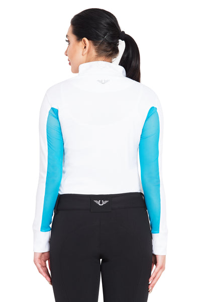 TuffRider Ladies Ventilated Technical Long Sleeve Sport Shirt_3618