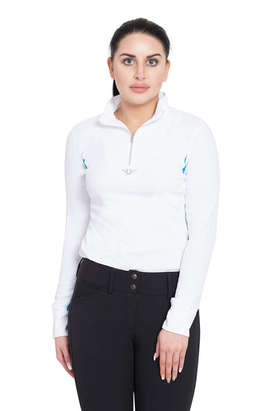 TuffRider Ladies Ventilated Technical Long Sleeve Sport Shirt_3616
