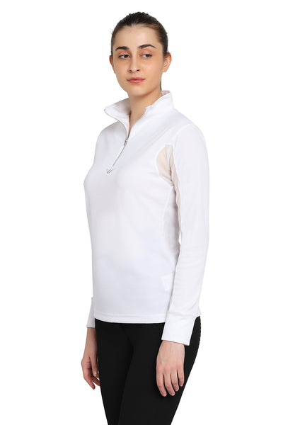 TuffRider Ladies Ventilated Technical Long Sleeve Sport Shirt_3611