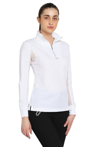 TuffRider Ladies Ventilated Technical Long Sleeve Sport Shirt_3610