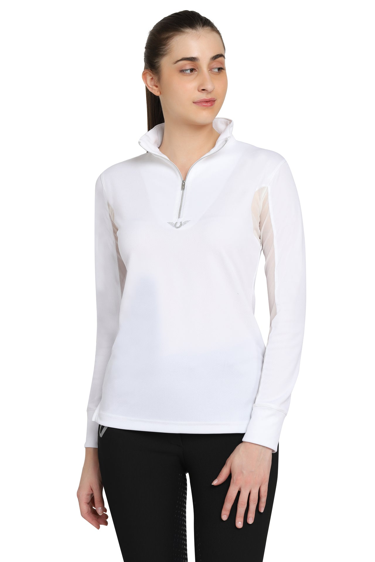 TuffRider Ladies Ventilated Technical Long Sleeve Sport Shirt_3609