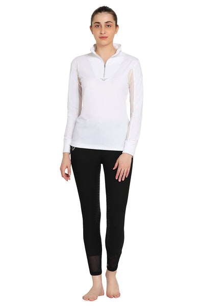TuffRider Ladies Ventilated Technical Long Sleeve Sport Shirt_3613