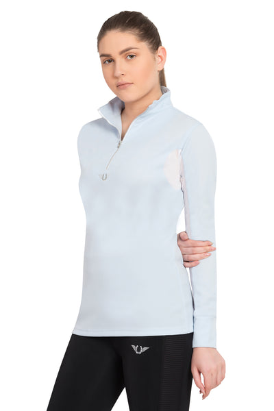 TuffRider Ladies Ventilated Technical Long Sleeve Sport Shirt_3622