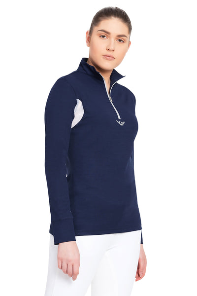 TuffRider Ladies Ventilated Technical Long Sleeve Sport Shirt_3629