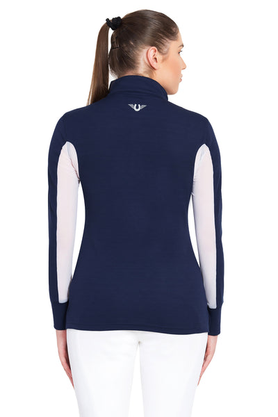 TuffRider Ladies Ventilated Technical Long Sleeve Sport Shirt_3630