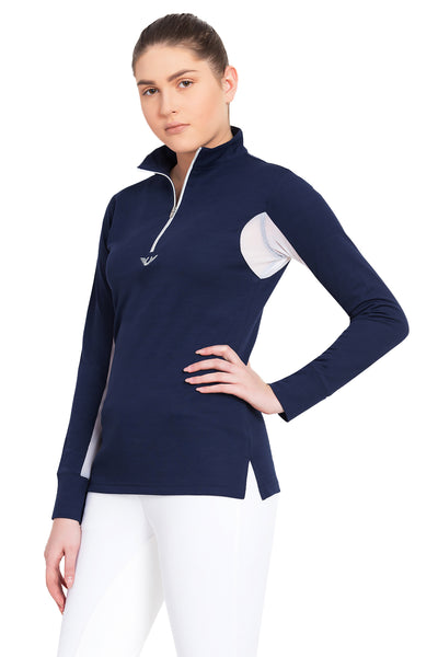 TuffRider Ladies Ventilated Technical Long Sleeve Sport Shirt_3627