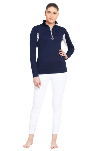 TuffRider Ladies Ventilated Technical Long Sleeve Sport Shirt_3632