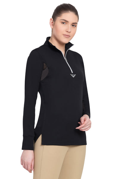 TuffRider Ladies Ventilated Technical Long Sleeve Sport Shirt_3635