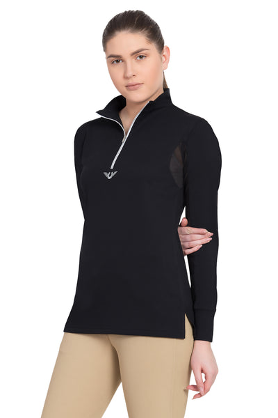 TuffRider Ladies Ventilated Technical Long Sleeve Sport Shirt_3634