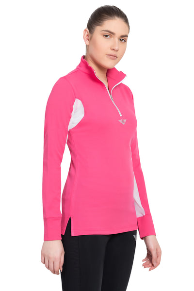 TuffRider Ladies Ventilated Technical Long Sleeve Sport Shirt_3641