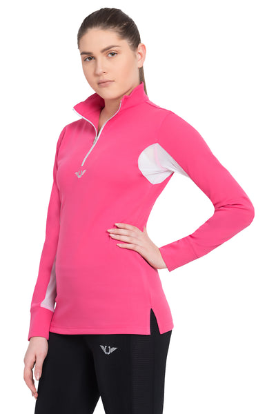 TuffRider Ladies Ventilated Technical Long Sleeve Sport Shirt_3640