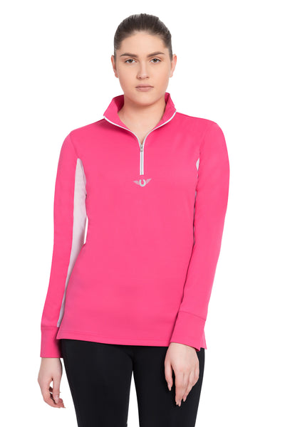 TuffRider Ladies Ventilated Technical Long Sleeve Sport Shirt_3639