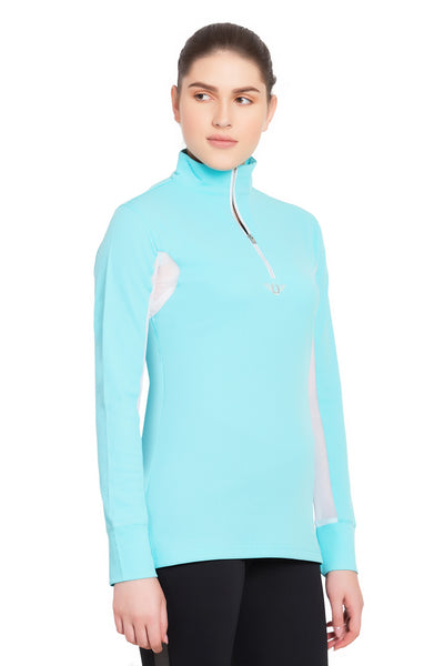 TuffRider Ladies Ventilated Technical Long Sleeve Sport Shirt_3647