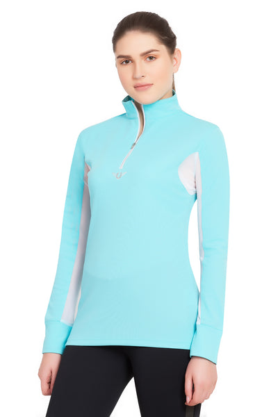 TuffRider Ladies Ventilated Technical Long Sleeve Sport Shirt_3646