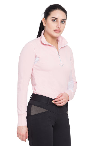 TuffRider Ladies Ventilated Technical Long Sleeve Sport Shirt_3651