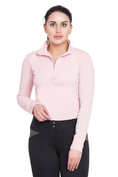 TuffRider Ladies Ventilated Technical Long Sleeve Sport Shirt_3650
