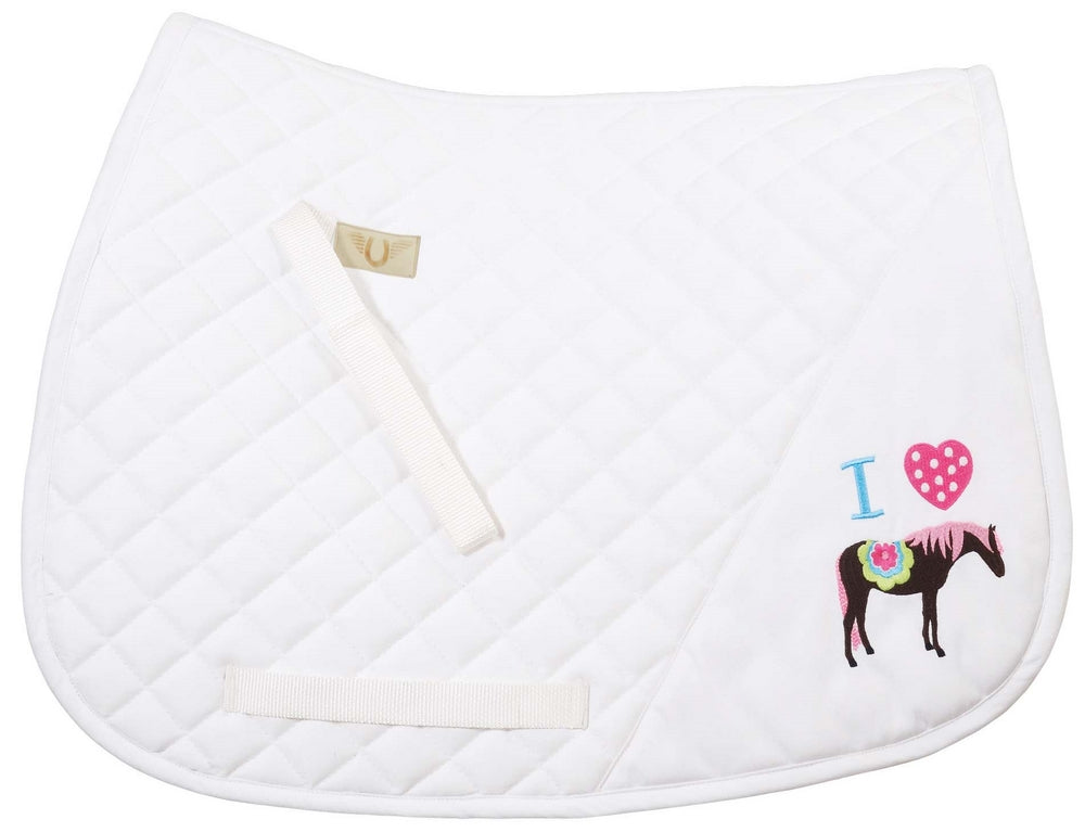 TuffRider I Heart Pony Girl Saddle Pad_2390