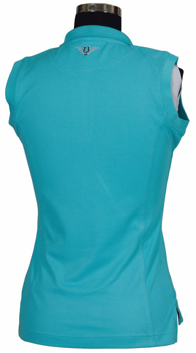 TuffRider Ladies Tech Sleeveless Polo_581