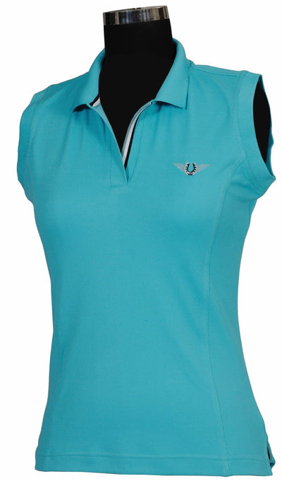 TuffRider Ladies Tech Sleeveless Polo_580