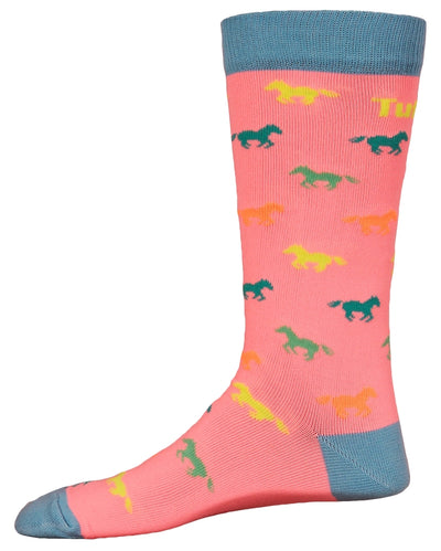 TuffRider Neon Pony Kids Socks_893