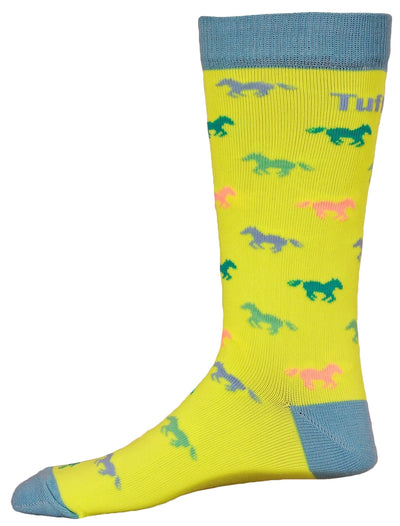 TuffRider Neon Pony Kids Socks_894