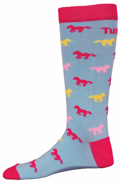TuffRider Neon Pony Kids Socks_895