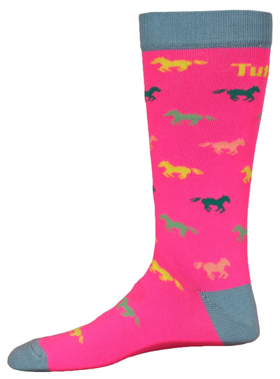 TuffRider Neon Pony Kids Socks_896