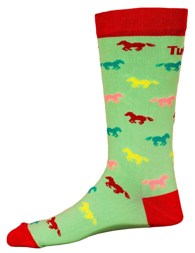 TuffRider Neon Pony Kids Socks_897