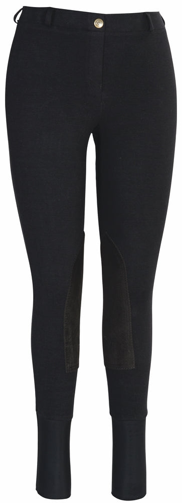 TuffRider Ladies Starter Lowrise Pull-On Knee Patch Breeches_593