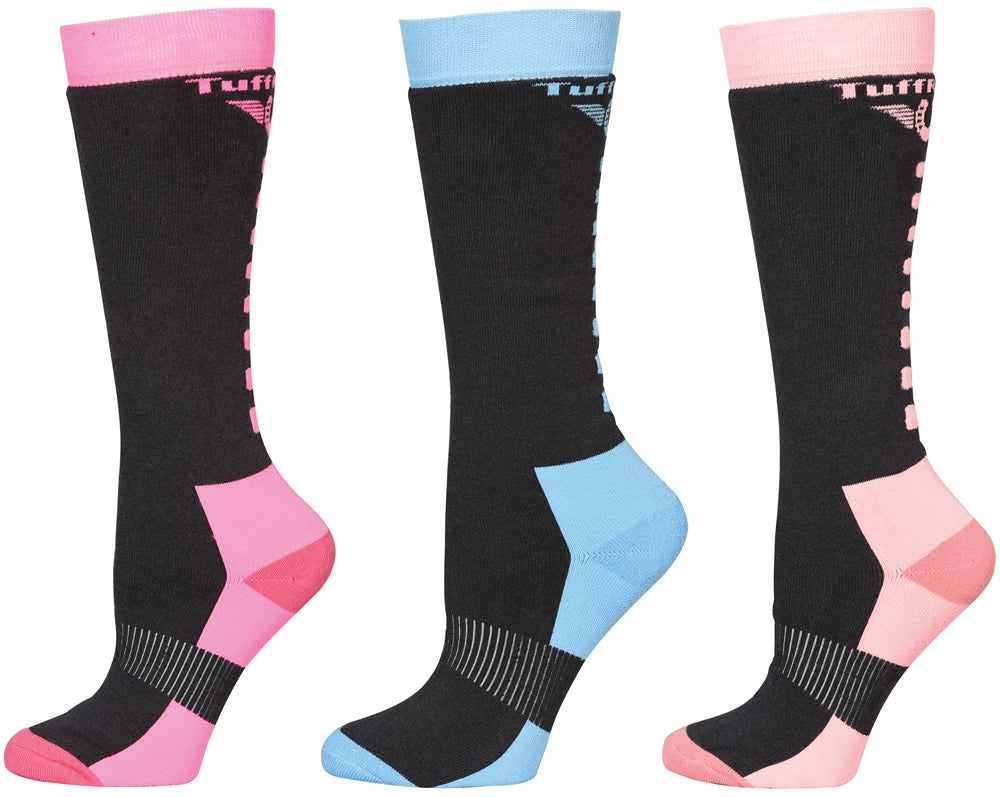 TuffRider Ladies Neon Winter Thermal Knee Hi Socks - 3 Pack_5063