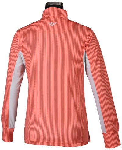 TuffRider Ladies Neon Stripe Technical Long Sleeve Polo_601