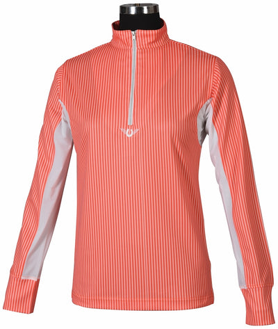 TuffRider Ladies Neon Stripe Technical Long Sleeve Polo_600