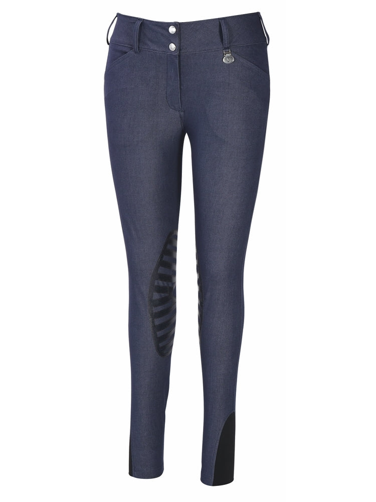TuffRider Ladies Sierra Denim Knee Patch Breeches_77