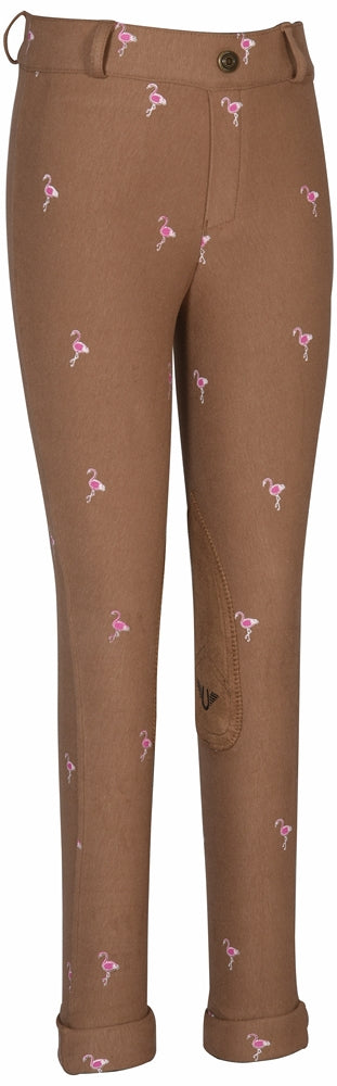 TuffRider Children's Flamingo Printed Pull On Jods_83