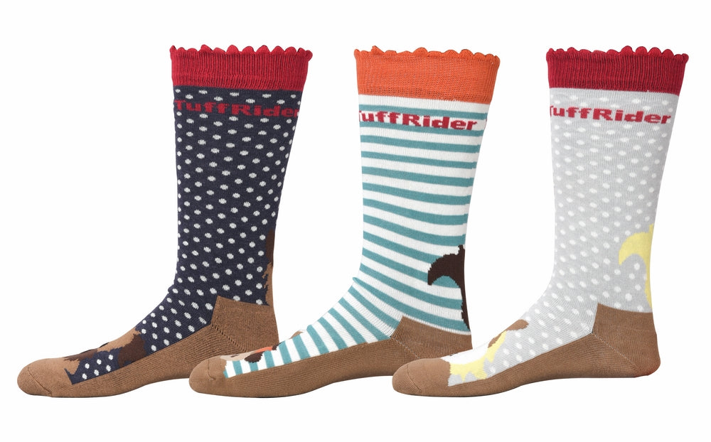 TuffRider Aron Kids Socks - 3 Pack_938