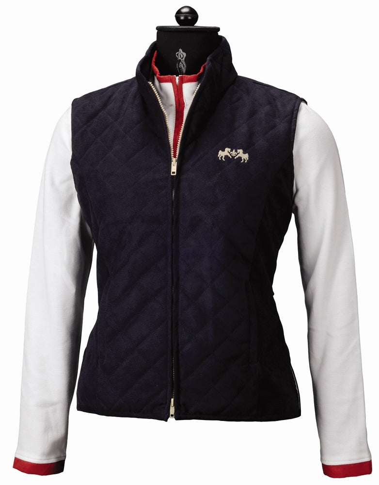 Equine Couture Ladies Spinnaker Micro Suede Vest_4532
