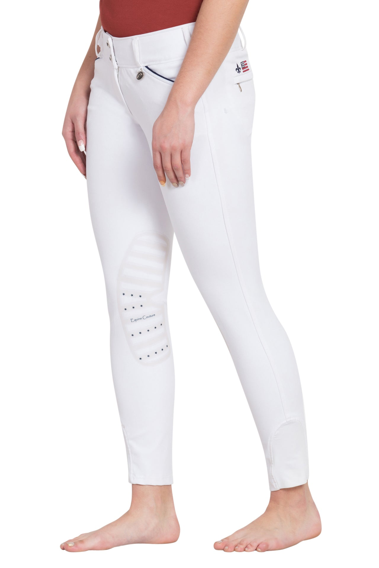 Equine Couture Ladies Brittni Silicone Knee Patch Breeches_1
